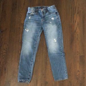 Gap Girls' Girlfriend Distressed Jeans